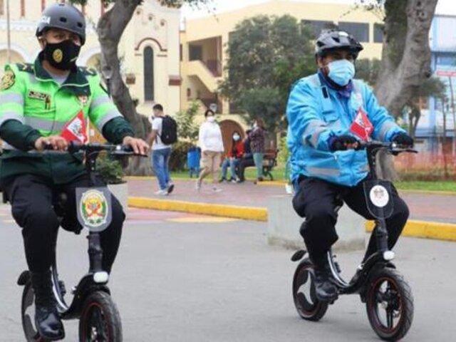 Policías y serenos de Magdalena combatirán la inseguridad a bordo de bicicletas eléctricas