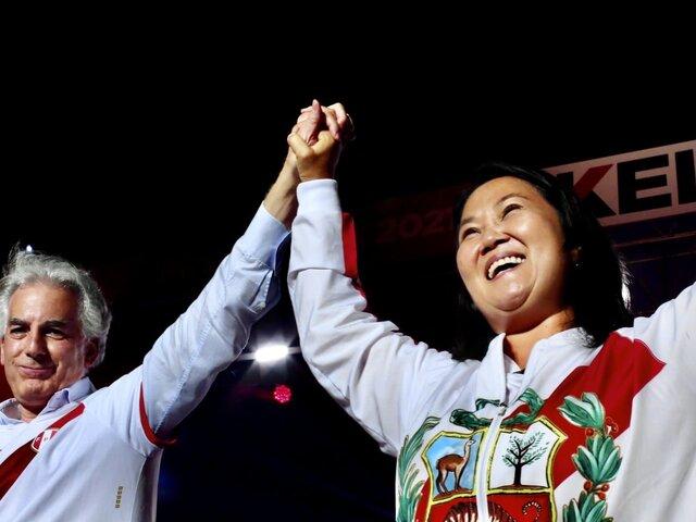 """Keiko Fujimori agradece a Álvaro Vargas Llosa: """"Toca unirnos en una gran defensa democrática"""""""