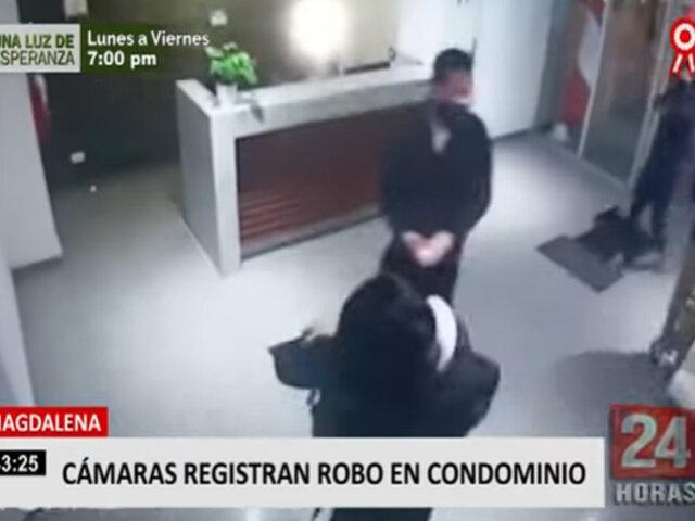 Magdalena: cámaras de seguridad registraron robo en condominio