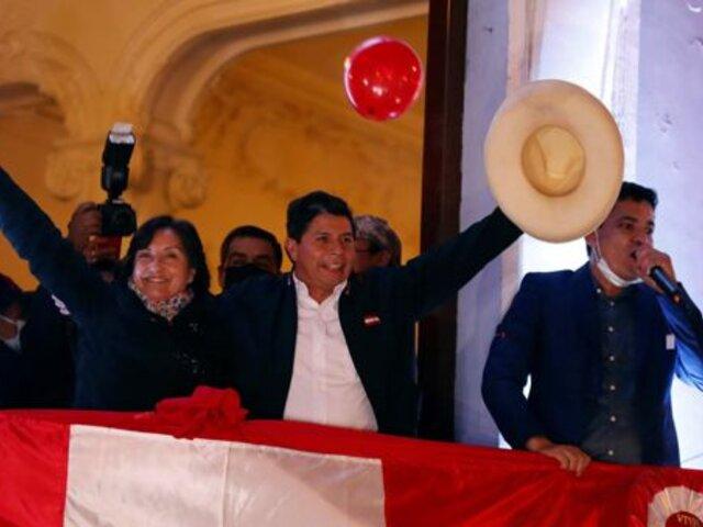 JNE entregaría credenciales a Pedro Castillo y Dina Boluarte este viernes