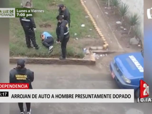 Arrojan de auto a hombre presuntamente dopado en Independencia
