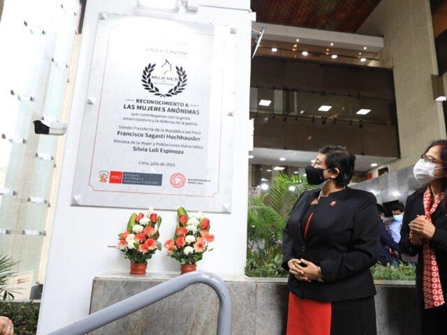 MIMP conmemora a las mujeres anónimas del Bicentenario que contribuyeron en la gesta emancipadora