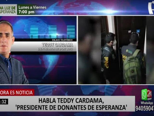 """Teddy Cardama, presidente de ONG 'Donantes de Esperanza': """"Han hecho uso indebido de nuestra imagen"""""""