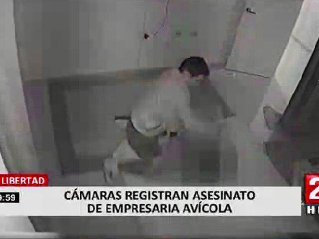 Trujillo: cámaras registraron asesinato a empresaria avícola