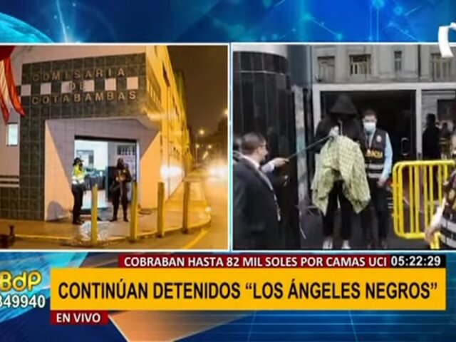 'Los ángeles negros': implicados continúan detenidos en comisaría de Cotabambas