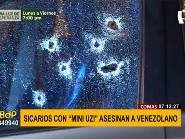 """Comas: sicarios se graban acribillando a ciudadano venezolano con arma """"mini uzi"""""""
