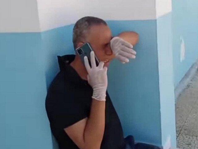 ¡Desgarrador! Médico llora de impotencia por falta de oxígeno para pacientes covid-19