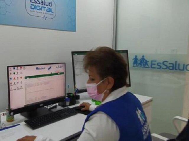 Essalud: Centro de Telemedicina atendió más de un millón de consultas virtuales a nivel nacional