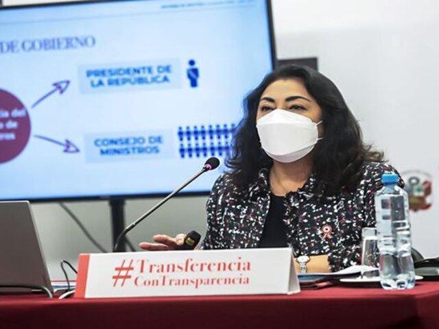Premier Violeta Bermúdez realizó balance de su gestión en el gobierno de tránsito