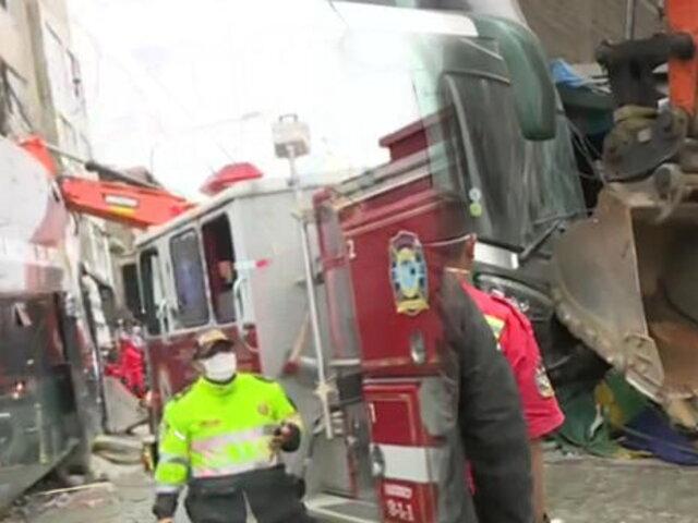 SJM: mujer muere arrollada por un bus de la Policía Nacional