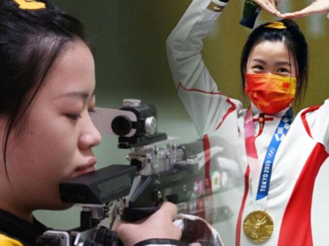 Tokio 2020:  La primera medalla de oro la obtuvo la tiradora Qian Yang de China