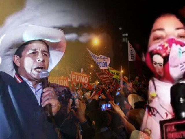 Así fue la celebración del Perú profundo  por triunfo de Castillo