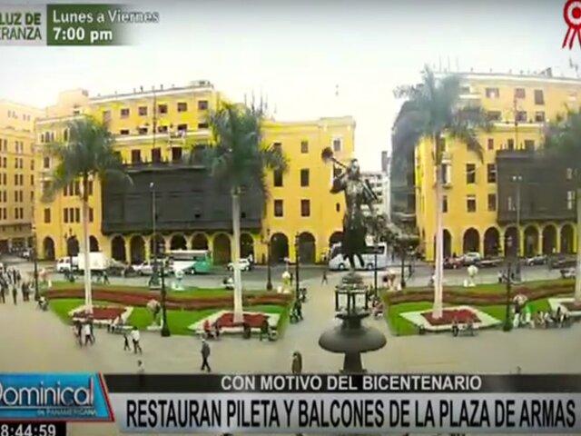 Bicentenario: embellecen alrededores de Plaza de Armas para celebraciones patrias