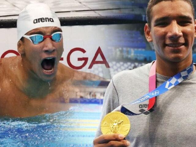 Tokio 2020: Tunecino de solo 18 años se lleva el oro en los 400 metros libres de natación