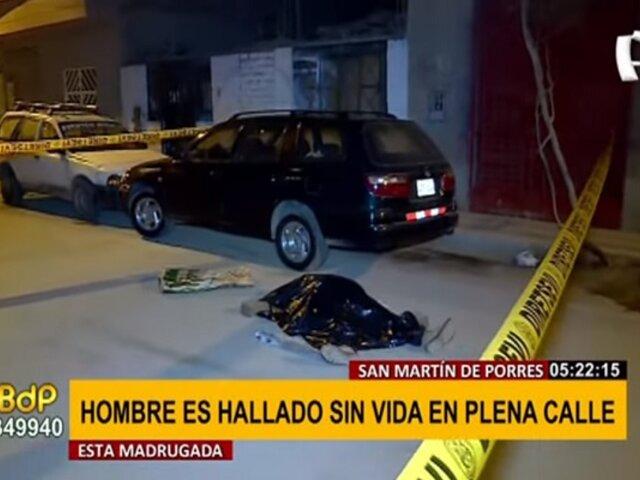 SMP: hombre es hallado sin vida en plena calle