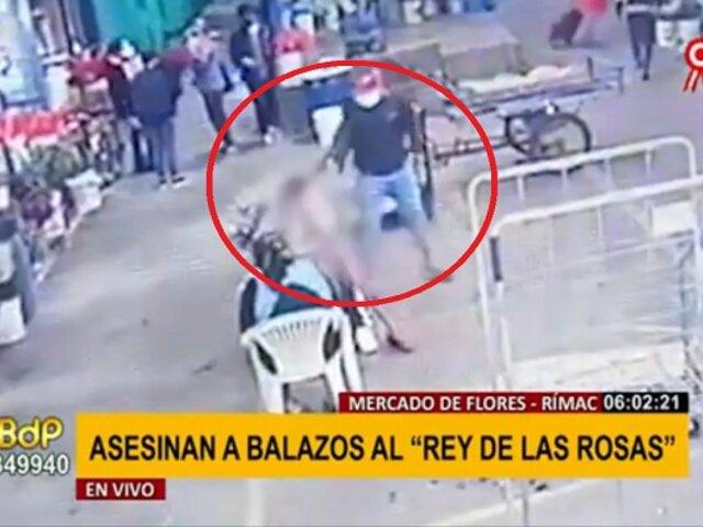 Mercado de Flores: sicario asesina a balazos al 'rey de las rosas' a plena luz del día