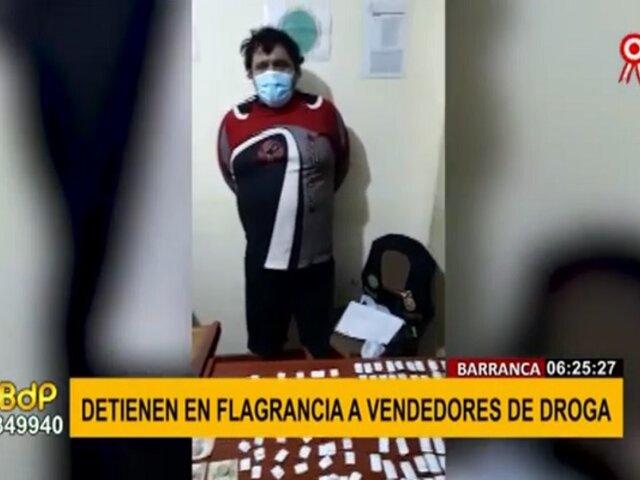 Barranca: intervienen a dos sujetos con más de 200 ketes de pasta básica de cocaína