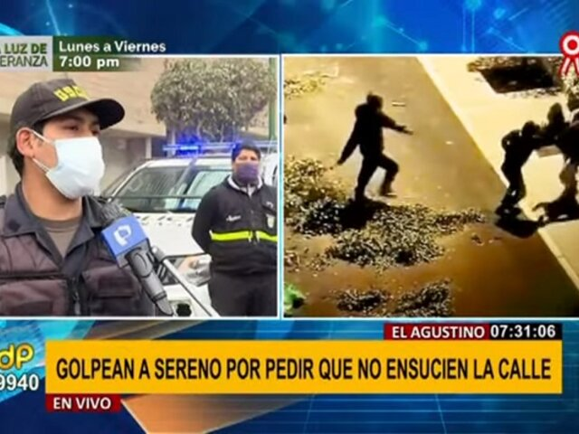 Agresión a sereno en El Agustino: vecinos enfrentados por borrado de mural