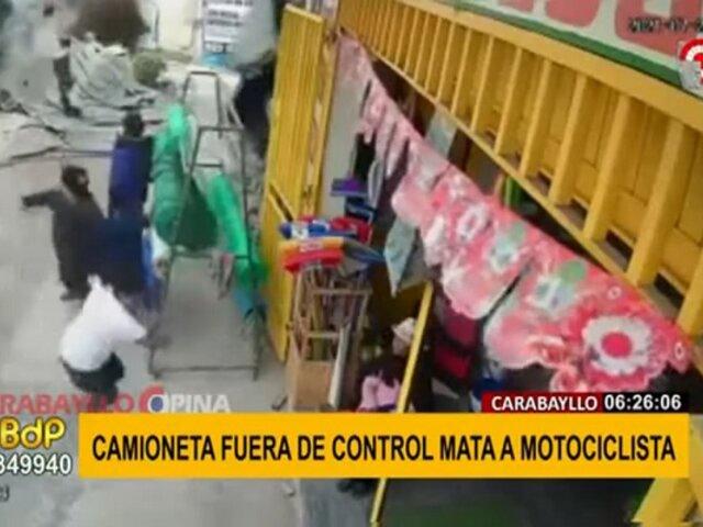Carabayllo: motociclista muere tras ser embestido por camioneta fuera de control