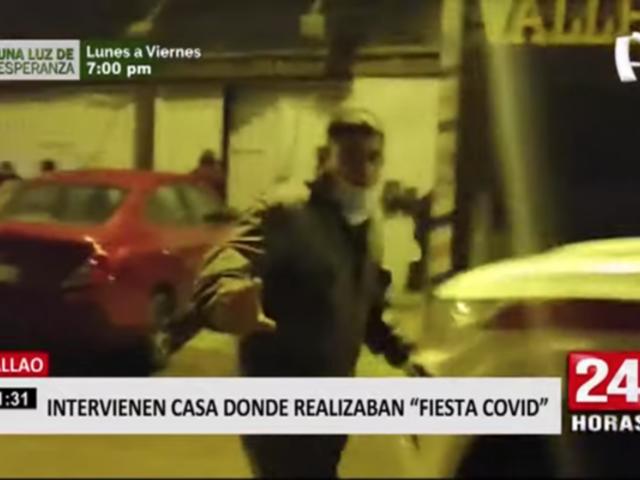 Callao: intervienen vivienda donde se realizaba 'fiesta COVID'