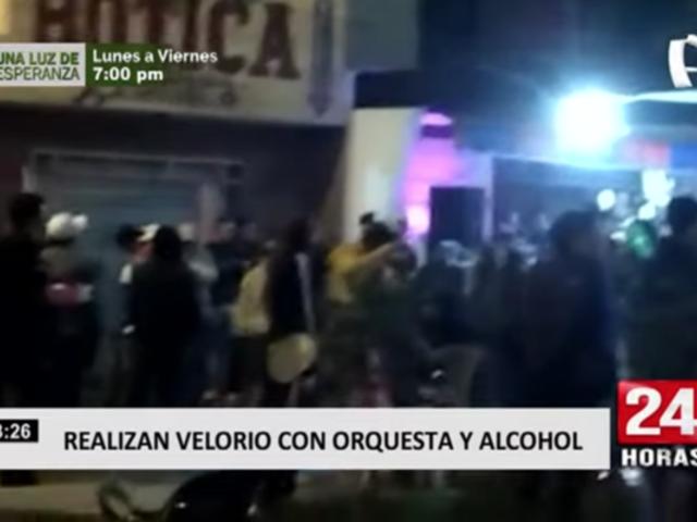 Realizan velorio con orquesta, alcohol y sin respetar el distanciamiento social