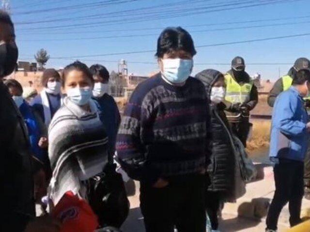 Evo Morales llegó a Lima para toma de mando de Pedro Castillo