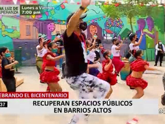 Recuperan jirón Coronel Zubiaga y pasaje Pedro Ruiz en Barrios Altos