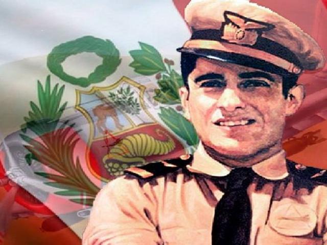 Tributo al héroe de la aviación nacional José Abelardo Quiñones