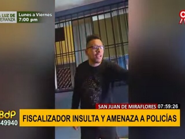 SJM: fiscalizador insultó y amenazó a policías tras ser intervenido por no usar casco