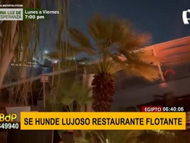 Lujoso restaurante flotante se hundió en menos de un minuto