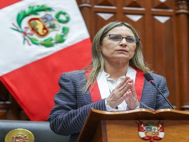 """María del Carmen Alva sobre pedido de confianza: """"Lo pertinente es escuchar lo que van a exponer"""""""
