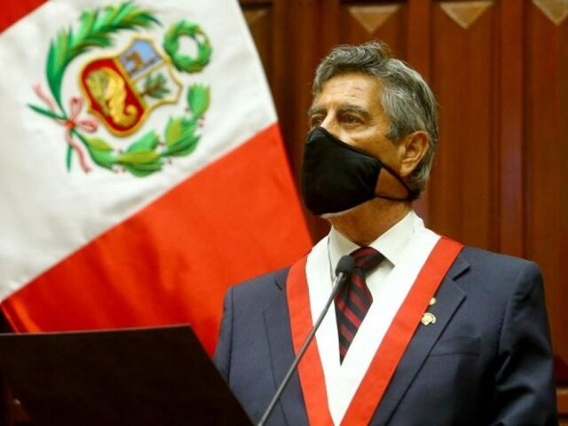 Francisco Sagasti en último mensaje a la Nación: Cumplimos lo que prometimos