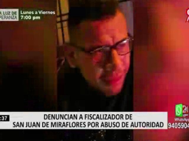 SJM: fiscalizador que agredió a policías señala que viene siendo acosado por la autoridad