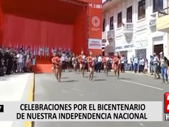 Iquitos: ciudadanos se congregaron en la Plaza de Armas para presenciar bailes típicos del interior del país