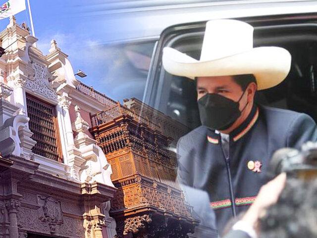 Pedro Castillo: presidente electo llegó a Palacio de Torre Tagle