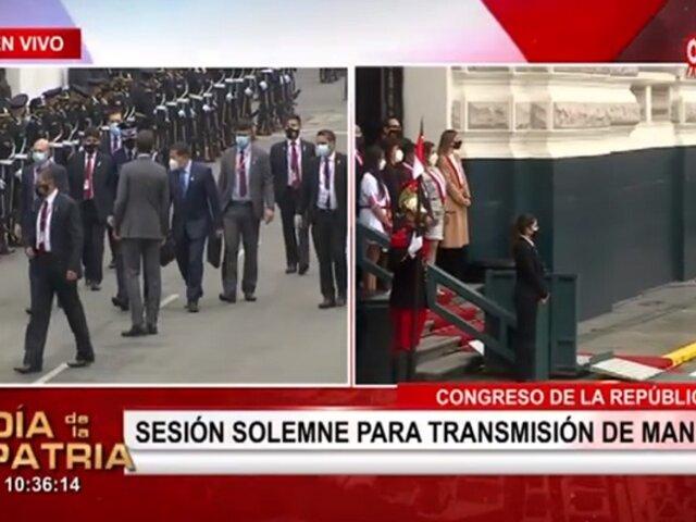 Pedro Castillo jurará a la Presidencia: Comisión de recibo del Congreso inicia sesión solemne