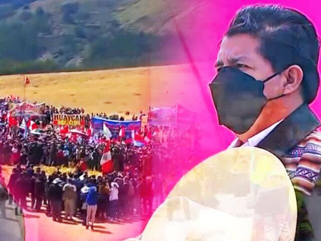Pedro Castillo realizó juramentación simbólica en Pampa de la Quinua