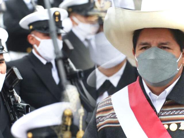 Presidente Castillo dejó Parada Militar tras registrarse fuerte temblor en Piura