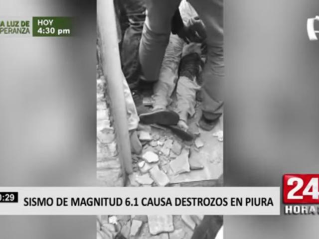 COEN: tres personas resultaron heridas tras sismo en Piura