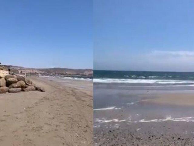 Piura: mar de Máncora se retiró tras sismo en Sullana