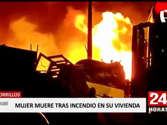 Chorrillos: anciana muere en incendio que consumió su vivienda