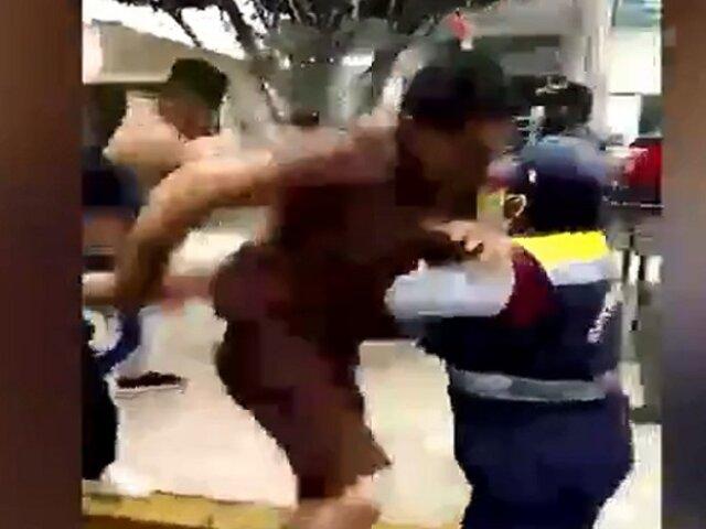 Huarmey: colectiveros se agarran a golpes en plena vía pública
