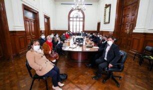 Guido Bellido: Congresistas de Perú Libre se reúnen con Premier en sede de la PCM