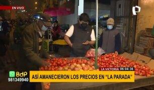 La Victoria: precios de alimentos registran ligera alza en mercado mayorista de La Parada