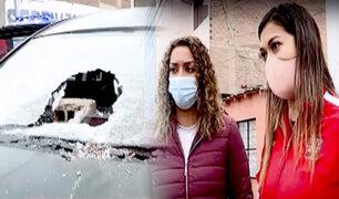 San Miguel: barristas destruyen auto de la hermana de la voleibolista Mirtha Uribe