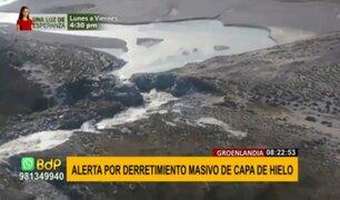 Alerta en Groenlandia: ola de calor provoca derretimiento masivo de capa de hielo
