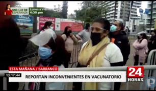 Barranco: muchos se quedaron sin vacunarse en estadio Gálvez Chipoco
