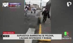 San Miguel: Destruyen auto de voleibolista Mirtha Uribe tras enfrentamientos de barristas