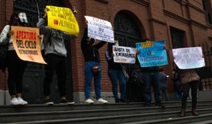 UNFV: estudiantes realizarán plantón este miércoles ante la falta de docentes en varios cursos