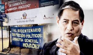 """Pedro Yaranga advierte que Movadef pide """"amnistía"""" para sus """"presos políticos"""""""